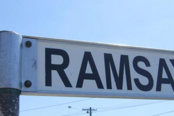 Ramsey Street sign from Channel 5's 'Neighbours'
