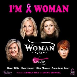 'I'm a woman' charity single poster