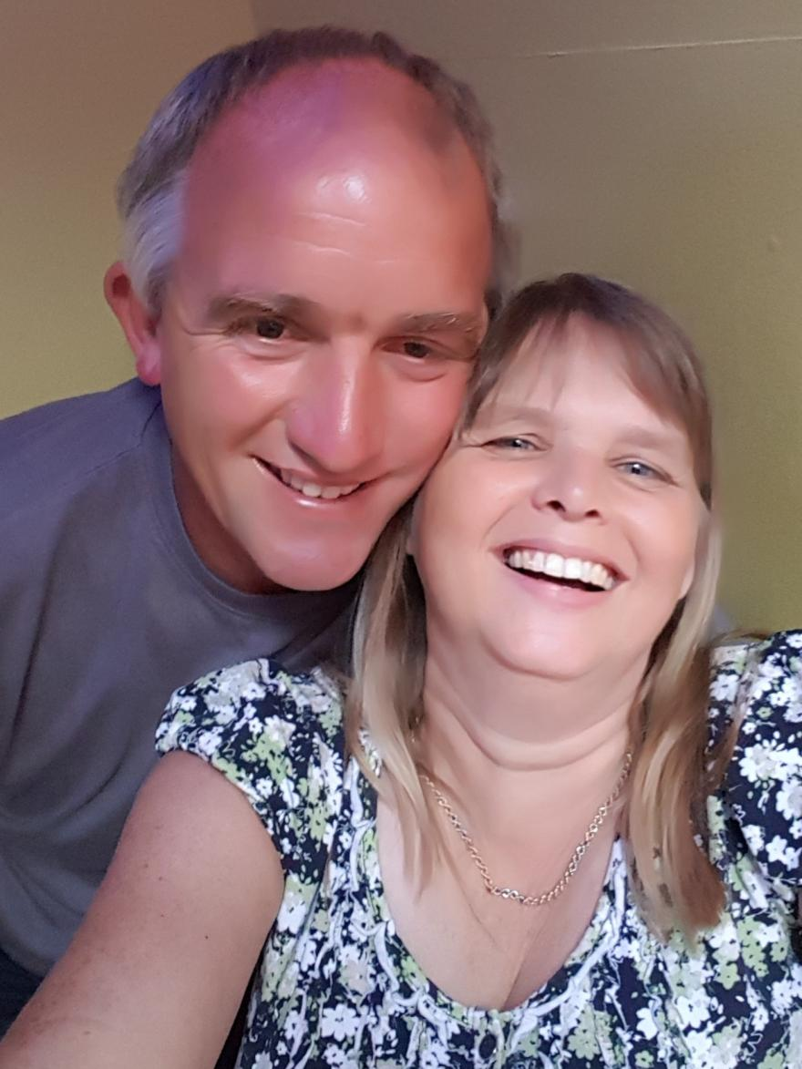 Marie and her husband - a woman with ovarian cancer who shared her story with Target Ovarian Cancer
